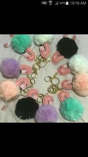 $3.90 only! Furball Keychain (Pink Flamingo)