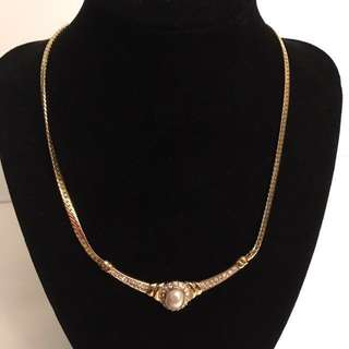 Vendome   vintage rhinestone fancy necklace