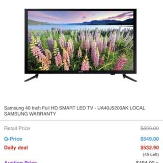 Bought around 9months back from BEST at 700 SGD.Its 100% good. Reason for selling is to buy curved TV with 55inches.