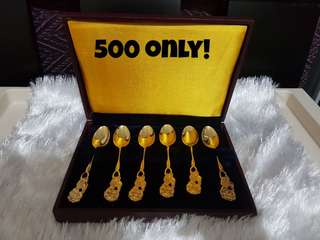 Gold plated spoons