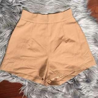 Luvalot Tan Culotte Shorts Size 6