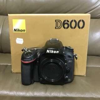 NIKON D600 BODY SC62K+