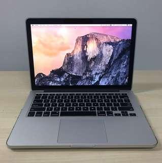 """Retina MacBook Pro 13"""" 8gb 256gb SSD"""