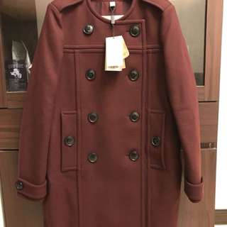 全新專櫃真品Burberry羊毛大衣外套