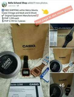 Casio Vintage and Black Gshock