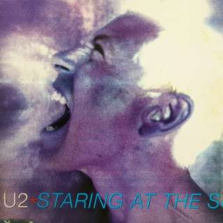 80s Pop Disco U2 Promo Single staring at the sun cd single rare