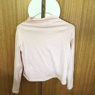 KOOKAI baby pink turtle neck top