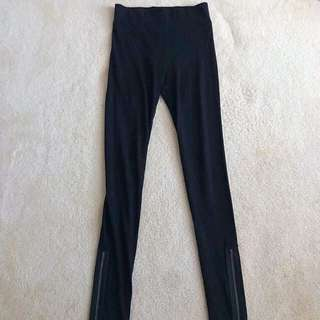 DOTTI | BLACK SKINNY PANTS WITH SIDE ZIPS
