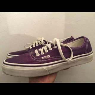 Purple vans authentic sneakers size 9.5 men's, 11 women's
