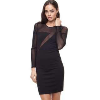 Bardot Black Mesh Mini Dress FREE POSTAGE