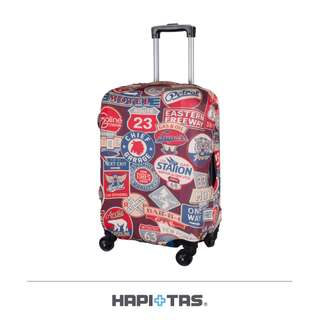 【Chu Mai】HAPI+TAS 復古勳章-行李箱套 旅行防塵 罩袋 保護套 行李套 行李箱雨衣 行李箱套S號