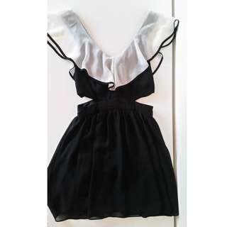 Bardot Frill Dress FREE POSTAGE