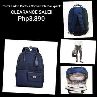Authentic Tumi Larkin Portola Convertible Backpack