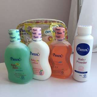 Pureen shampoo lotion bath powder