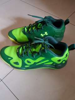 Under Armour green anatomix shoes