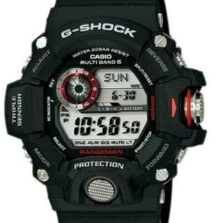 GW-9400-1/3  門市保用 信心保證  CASIO G-SHOCK WATCH 世界6局電波錶光動能 GW-9400-1 GW-9400