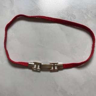 Red elastic colour belt