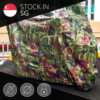 Bike Cover / Ultra All-weather 210T Polyester Camouflage Motorcycle Cover