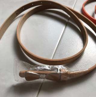 Beige colour belt