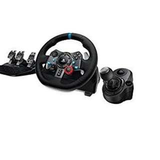 Logitech G29 100% new wheel + shifter gran turismo sport ps4  軚盤 + 腳踏+波棍