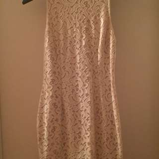 Mendocino brand new white lace dress , size L fits like a medium