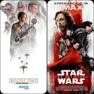 Limited Edition STAR WARS THE LAST JEDI POSTER & IMAX POSTERS