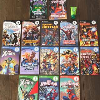 Marvel Story Books (15 pcs from level 1-4)