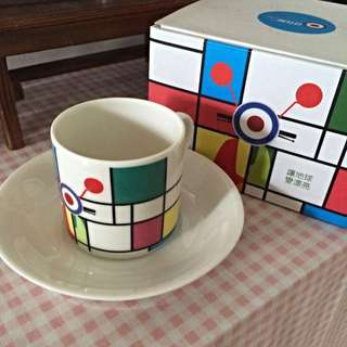 🚚 Vespa咖啡杯盤組