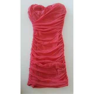 Pink Strapless Mini Dress FREE POSTAGE