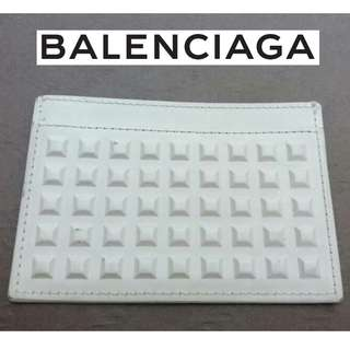AUTHENTIC BALENCIAGA LEATHER CARD HOLDER WITH STUD MOTIF