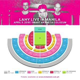 Buying LANY Ticket  Box x2 3500 each.