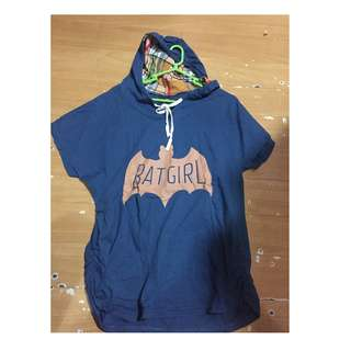 Batgirl Shirt with hoodie