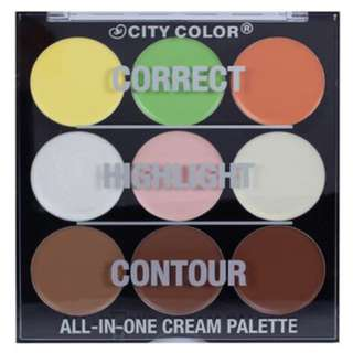 City Color Highlight Contour All in One Cream Palette