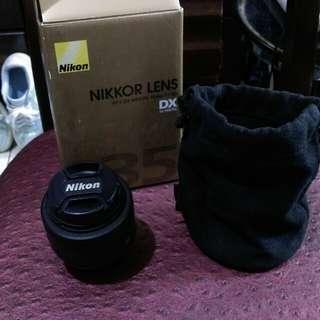 Nikkor lens( 35 mm f/1.8g)