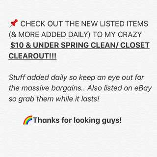 MORE 🤩$10 ITEMS🤩 ADDED 2MY CLOSET SALE!!
