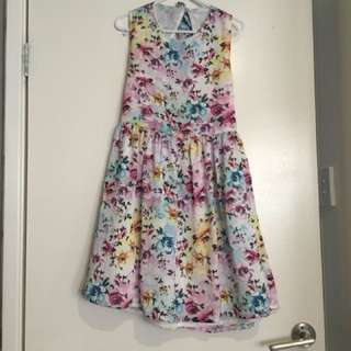 Girls' floral summer dress size 16