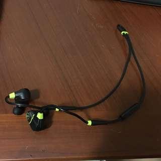 鐵三角 螢光黑藍芽耳機