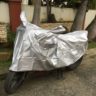 Silver Motorcycle Cover for Honda Suzuki Kawasaki Rusi