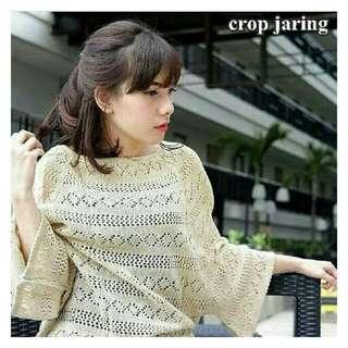 Crop jaring/atasan wanita