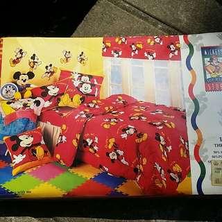 全新正版Mickey twin quilt cover