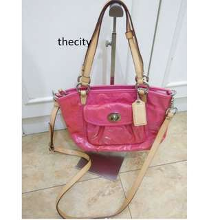 AUTHENTIC COACH SMALL TOTE WITH LONG SLING STRAP