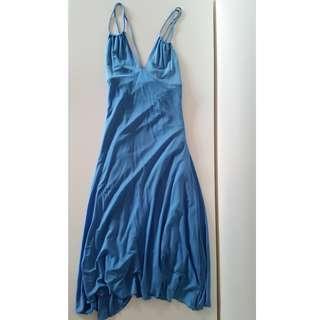 Seduce Blue Silk Dress FREE POSTAGE
