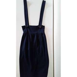 Navy Pinafore Skirt FREE POSTAGE
