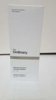 The Ordinary Glycolic Acid 7% toning solution. pH ~3.6