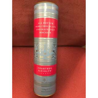 Crabtree & Evelyn All Butter Dark Chocolate And Hazelnut Biscuits 150g