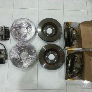 brake calliper lancer gt 09 with rotor..depan dan belakang..berminat col 0129113439