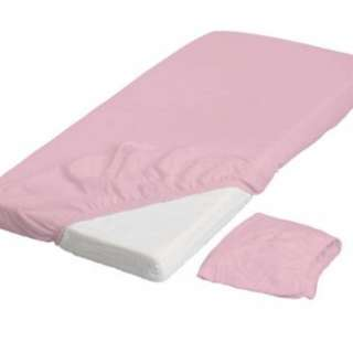 Ikea baby fitted cot sheet (pink)