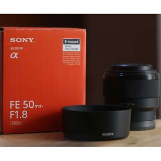 SONY FE 50mm F 1.8 Mint Condition