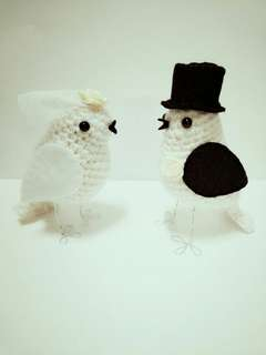 Wedding Birds Bride & Groom