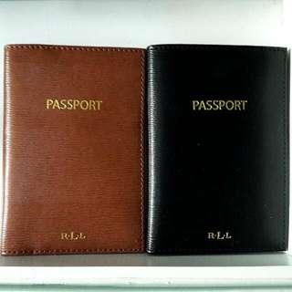 Ralph Lauren Leather Tate Passport Wallet Black & Brown